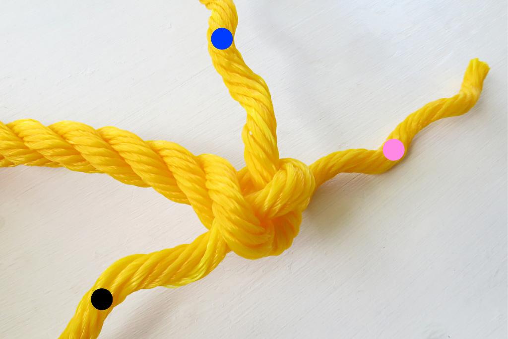 ロープの末端処理編み込み方法【バックスプライス加工】
